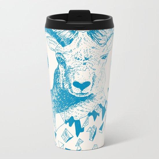 Fragments (Sheep) Metal Travel Mug