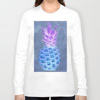 pineapple Long Sleeve T-shirts featuring Pineapple  by Saundra Myles
