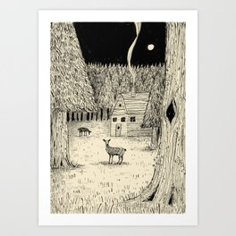'In The Clearing' Art Print