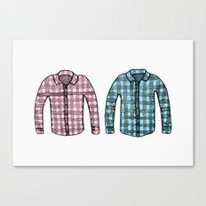 Flannel shirts Canvas Print