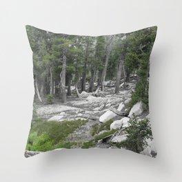 South Lake Tahoe Slope Throw Pillow