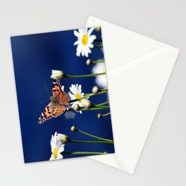 Painted Lady on Daisies Stationery Cards