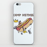 camp iPhone & iPod Skins featuring CAMP by Laura O'Connor