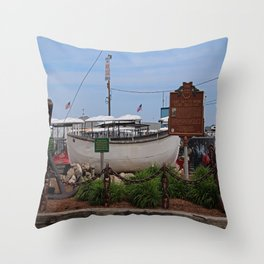 Ship-to-Shore on Put-in-Bay Throw Pillow