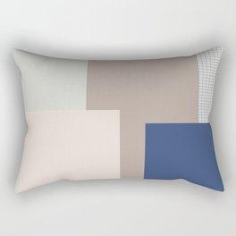Bleu rose vert brun Rectangular Pillow