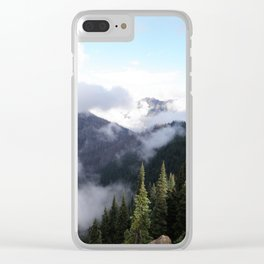 Washington State Clouds Clear iPhone Case