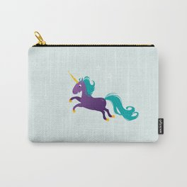 Violet unicorn Carry-All Pouch