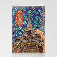 eiffel tower Stationery Cards featuring Eiffel Tower by Art By Carob