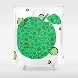 Mod Green Apple Shower Curtain