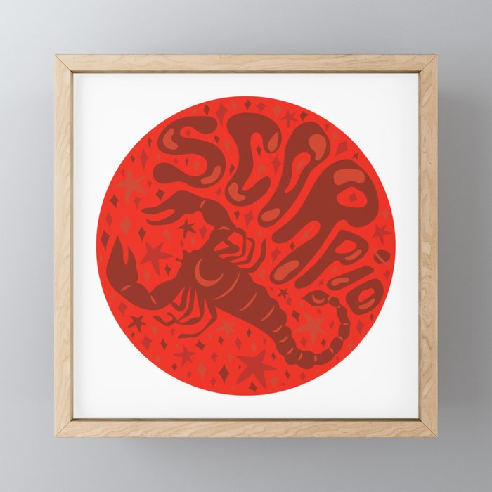 Scorpio Framed Mini Art Print