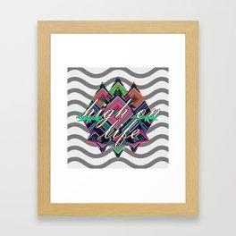 High on Life & Festival Vibes Tribal Pattern Framed Art Print