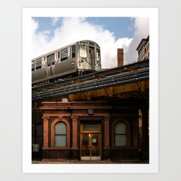 Elevated Train Art Print