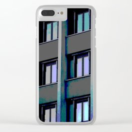 Windows at sunset Clear iPhone Case