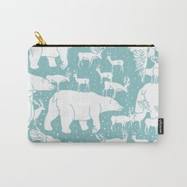 Polar gathering (peppermint) Carry-All Pouch