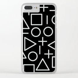 Memphis pattern 67 Clear iPhone Case
