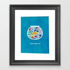 Big fish, little bowl.  Framed Art Print