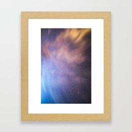 Pink Glitter Galaxy Framed Art Print