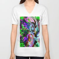 romance V-neck T-shirts featuring Romance by shiva camille