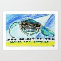 Manta Ray Charles Art Print