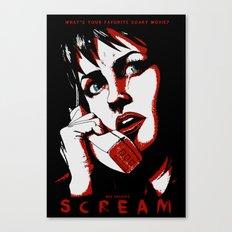 SCREAM - RED (Alternative Movie Poster) Canvas Print