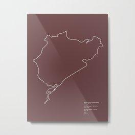 Nurburgring - F1 Infographic Metal Print
