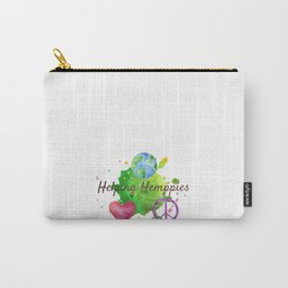 Helping Hemppies Merch White Carry-All Pouch