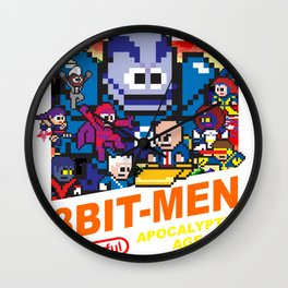 8bit-Men Apocalyptic Age Wall Clock