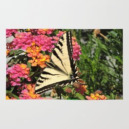 Swallowtail on Lantana Rug