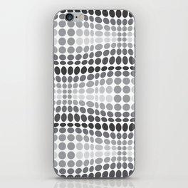 Dottywave - Grey scale wave dots pattern iPhone Skin