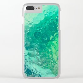 Underwater Macro Photography With Green Bubbles Clear iPhone Case