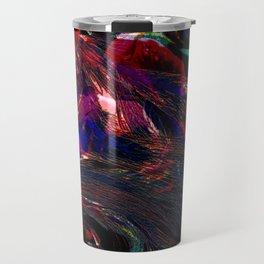 Vintage Fraktal colors  Travel Mug