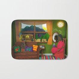 Abuela's Childhood Memories Paper Art Bath Mat