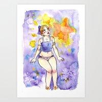 Star Girl Art Print