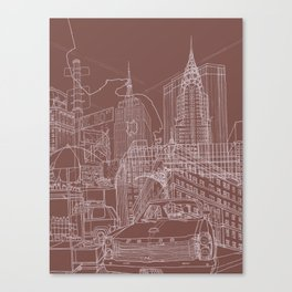 New York! Clay Canvas Print