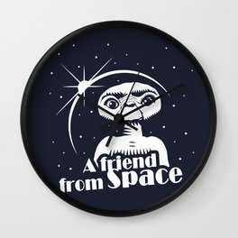 ET the Extraterrestial: A friend from Space Wall Clock