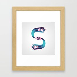 The Letter S Framed Art Print