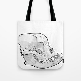 English Bulldog Skull Tote Bag