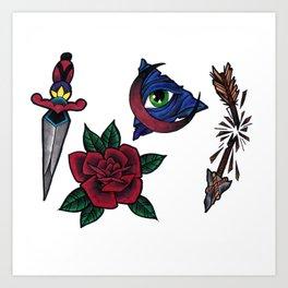 Neo Traditional Flash Art Print