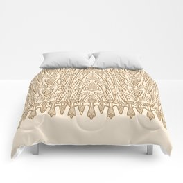 Sepia Macramé Arrowhead Chenille Lace Pattern Comforters