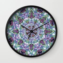 Abstract Flower AA YY QQ Wall Clock