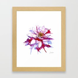 Bleeding Lotus Framed Art Print