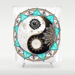 Yin and Yang Mandala Shower Curtain