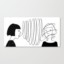 Conversation Canvas Print