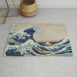 The Great Wave off Kanagawa vintage     from original painting by Katsushika Hokusai Rug