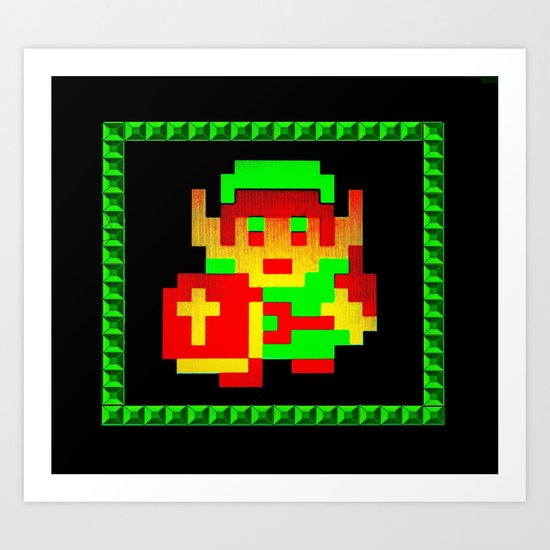The Legend of Zelda (Link with Shield) Art Print