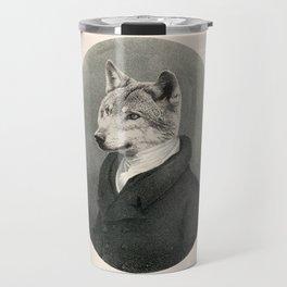 Lithography wolf Travel Mug