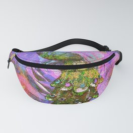 Peacock Watercolor Fanny Pack