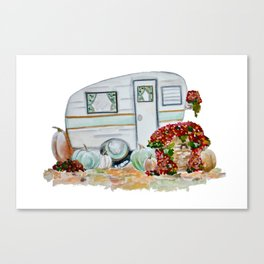 Happy Fall Glamper Canvas Print