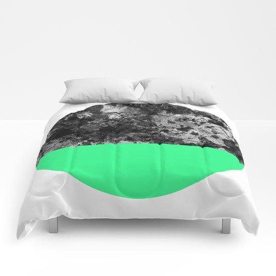 Bathing Moon (In Green) Comforters