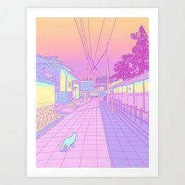 Kyoto Cats Art Print